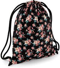 Adolescente Adulto Peachy Rosa Flor Floral Bolsa de deporte, Natación PE, Escolar Bolsa Regalo