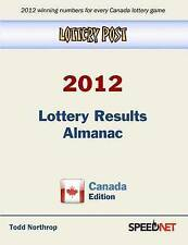 NEW Lottery Post 2012 Lottery Results Almanac, Canada Edition by Todd Northrop
