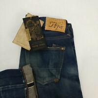 PRPS Noir Selvedge Denim Jeans Size 32 32x34 Dark Wash Made in Japan Sample
