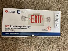 Lithonia Lighting Ecr Led M6 Led Emergency Exit Sign Combo