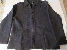 NWOT CAROLE LITTLE Dark Gray Soft Wool Unlined Fall Sport Jacket Size Large
