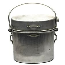 WWII Original French Army Large mess kit. Aluminium military bowler pot 5 liter