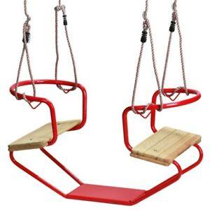 Gondola Rouge Balançoire Double Pour 2 Gondole Bateau Swing Loggyland