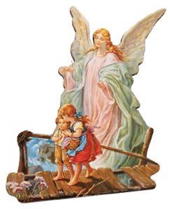 Guardian Angel Picture Fridge Magnet Angel Wood Fridge Magnet Angel Protection
