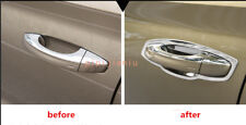 8P Stainless steel Outer Door Handle Bowl Cover Trim For Skoda Kodiaq 2017-2018