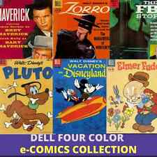 Dell FOUR COLOR COMICS Western Cartoon & TV/340 Golden Age E-COMICS on  1 DVD