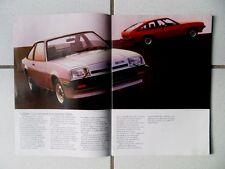 CATALOGUE OPEL MANTA / MANTA CC 1980 /SR GT/E L LS BERLINETTA /09 1979 20 PAGES