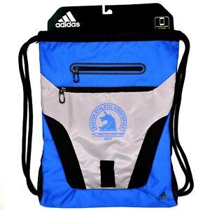 Adidas Rumble Sack Drawstring Backpack 2017 Boston Marathon Media Zip Pocket NEW
