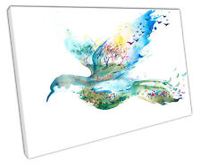 SPRING BIRD CANVAS WALL ART PICTURE LARGE 75 X 50 CM