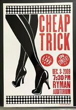 Cheap Trick Hatch Show Print Concert Poster @ The Ryman Nashville Tn 2009