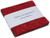 "Fire & Ice II Batiks Moda Charm Pack 42 100% Cotton 5"" Precut Quilt Squares"