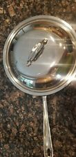 "All Clad 11"" Stainless Steel Saute Fry Pan Skillet with Lid"