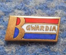 GWARDIA BIALYSTOK POLAND FOOTBALL SOCCER BOXING JUDO 1960's ENAMEL PIN BADGE