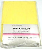 VTG SEARS HARMONY LIGHT PERMA PREST PERCALE TWIN FLAT SHEET