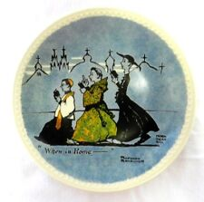 Limited Ed. Plate Newall Pottery Norman Rockwell On Tour When In Rome Collector