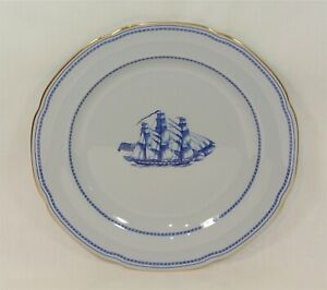 Spode TRADE WINDS BLUE Dinner Plate Ship Grand Turk 10 1/4 inches