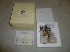 BOXED WALT DISNEY LENOX MICKEY MINNIES DREAM WEDDING CAKE FIGURINE SHOWCASE RARE