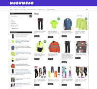 WORKWEAR UK WEBSITE WITH NEW DOMAIN + 1 YEARS HOSTING FULLY STOCKED