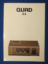 Quad 44 Pre Amp Sales Brochure Factory Original The Real Thing