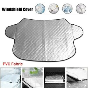 Car Windshield Cover Sun Shade Protector Winter Snow Ice Rain Frost Guard Silver
