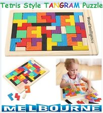 Wooden TANGRAM Brain Teaser Puzzle TETRIS Educational Baby Children Toy Gift