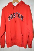 Red Boston Gildan Parka Heavy Blend 50% Cotton / 50% Polyester XL Hoodie
