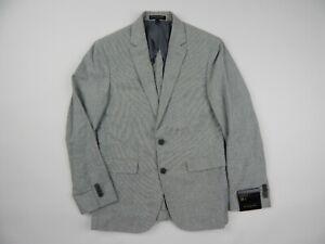 Banana Republic Factory Grey Microcheck Cotton Linen Sportcoat Blazer 38S Slim