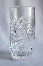 10 Oz Flat Tumbler Glass Nachtmann Crystal Astra Pattern Pinwheel & Star Design
