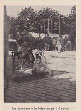 1897  --  UN ACROBATE A LA FOIRE AU PAIN D EPICE  3H896