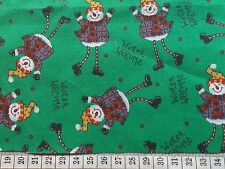 Happy Snowmen on Green Fat Quarter 05