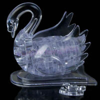 New 3D Crystal Puzzle Jigsaw Model DIY Swan IQ Toy Gift Souptoy Furnish Gadget