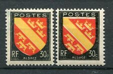 FRANCE - 1946, timbre 756, variété couleur décalée, ARMOIRIES ALSACE, neuf**