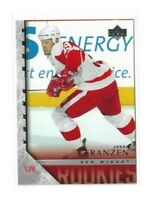 2005-06 UPPER DECK #456 JOHAN FRANZEN YG RC UD YOUNG GUNS ROOKIE RED WINGS