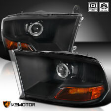 Black 2009-2018 Dodge RAM 1500 2500 3500 Retrofit Style Projector Headlights