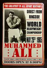 MUHAMMED ALI / 25 May 1965 - Vintage & Retro Large Metal Sign 30x40 Cm