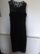 Black Floral Lace  Lined Pencil Party/Cruise Dress  @ Size 8/10 ?