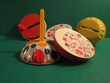 Five Vintage Noise Makers With Plastic Handles