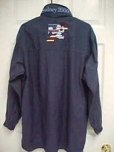 SYDNEY 2000 IBM Match Race Full Zip Navy Button Hoodie Jacket S Line 7 NEW TAG