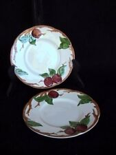 Franciscan Apple 2 Bread/Butter Plates Cream Red Apples/Green Leaves/Brown Branc