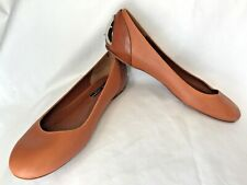 Ralph Lauren Collection Purple Label 9B Ballet Flats Brown Leather Metal Heel