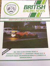 BRITISH RACING NEWS MAGAZINE #123 JAN 1989 TOYOTA F3 INSIGHT CATERHAM 7 ROAD TES