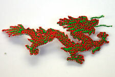 RED & GREEN CHINESE DRAGON Embroidered Iron Sew On Cloth Patch Badge  APPLIQUE