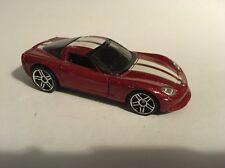 2007 Hot Wheels Mystery Car. Corvette C6 Red. Loose