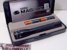 Tactical Mag-Lite EDC Flashlight Black Two AA Mini Mag-Lite Duty Survival Hiking
