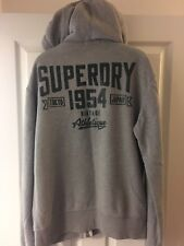 Superdry training hoodie large men's grey Panthers full zip