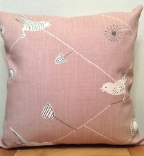Vanessa Arbuthnott **DAWN CHORUS** Dusky Pink/Winter Linen Cushion Cover  40cm