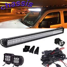 "52""IN LED COMBO LIGHT BAR 2X4"" LED CUBE  OFFROAD SUV 4WD+ Wiring KIT Dodge Nitro"