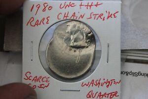 1980   RARE CHAIN STRIKE ERROR  UNC+++  WASHINGTON QUARTER