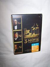 The Godfather Collection (DVD 2015, 3-Disc Set) Marlon Brando, Al Pacino; New