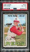 1967 Topps Baseball #430 PETE ROSE Cincinnati Reds PSA 4 VG-EX